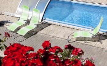 Ubytování Valtice - penzion Réva bazén lehátka